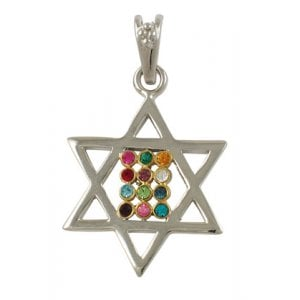 Gold Filled Two Tone Star of David Choshen Pendant