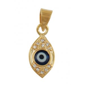 "Gold Filled Zirconium ""Eye"" Pendant"