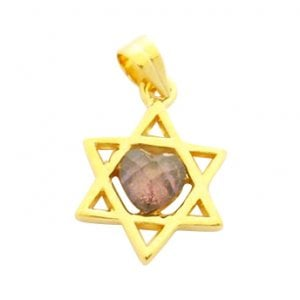 Gold Filled Amethyst Star of David Pendant