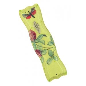 Floral design Wood Mezuzah