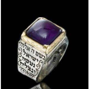 Five Metal Amethyst Ring for Healing by HaAri
