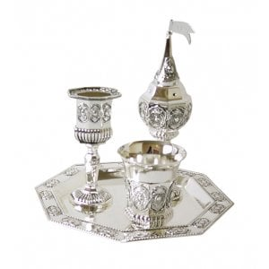Silver Plated 4-Piece Havdalah Set