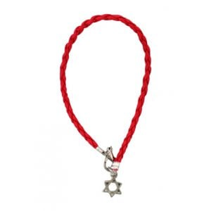 Braided Red Thread Kabbalah bracelet with Star of David