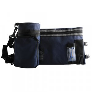 Set, Insulated Tefillin Holder and Weatherproof Tallit Bag - Blue