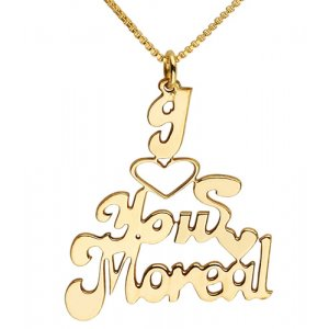 "Gold Filled ""I Love You"" English Name Necklace"