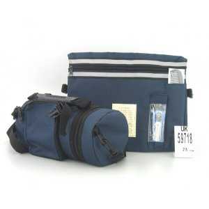 Dark Blue Tefillin Carrier with Tallit bag - Thermal & Waterproof