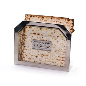 Nickel and Glass Matzah Stand