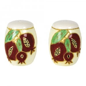 Ceramic Pomegranate Salt and Pepper Shakers
