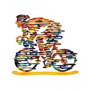 David Gerstein Free Standing Double Sided Bicycle Sculpture - Armstrong