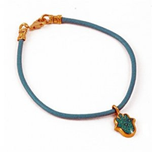 Turquoise Hamsa Leather Bracelet SALE PRICE - 1 LEFT IN STOCK !!