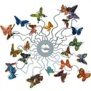 David Gerstein Laser Cut Fruit Bowl or Wall Decoration - Butterflies Forever