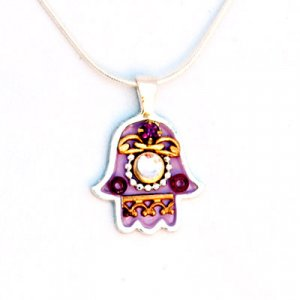 Hamsa Jewelry Ethnic Style Necklace by Ester Shahaf