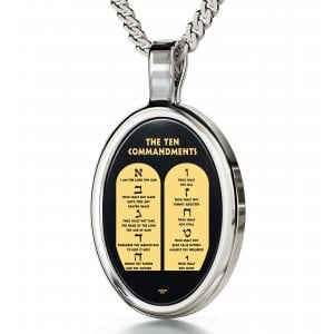 Ten Commandments Jewish Pendant