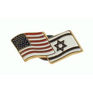 Israel & USA Flags Lapel Pin