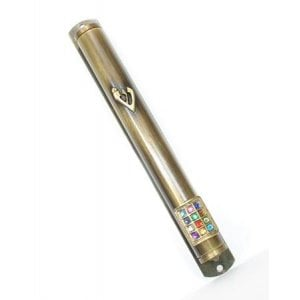 12 Tribe Breastplate Yellow Pewter Mezuzah