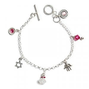 Star of David Bracelet - Pink by Ester Shahaf