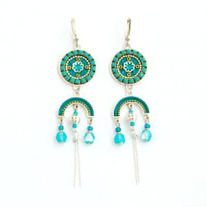 Turquoise Dangle Earrings by Ester Shahaf