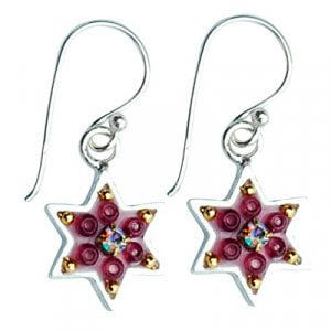 Funky Star of David Earrings by Ester Shahaf