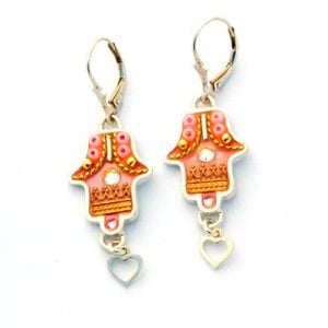Hamsa Oriental design Earrings by Ester Shahaf