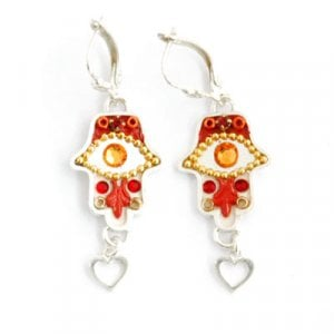 Oriental Hamsa Earrings by Ester Shahaf