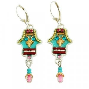 Hamsa Earrings by Ester Shahaf