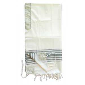 Talitnia Chermonit Wool Tallit Pure Wool Kosher Prayer Shawl
