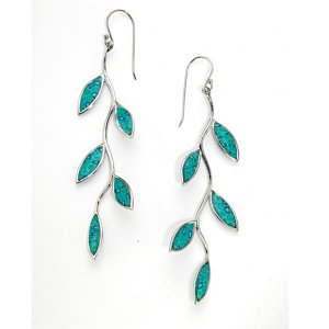 Olive Branch Earrings - Turquoise color