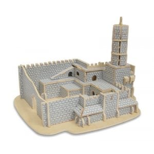 3-D Wood Tower of David Assembly Puzzle