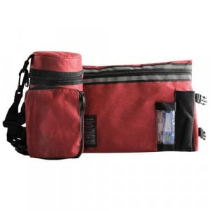 Set, Insulated Tefillin Holder and Weatherproof Tallit Bag - Red Maroon
