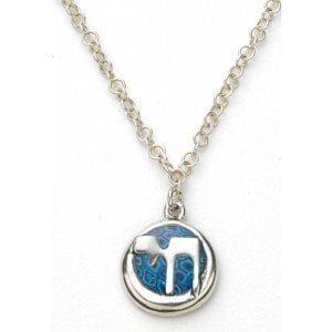 Silver Blue Chai Necklace