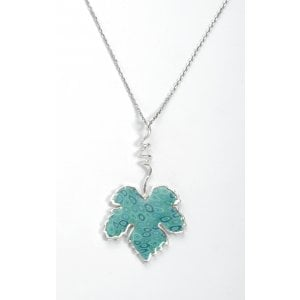 Turquoise Grape Leaf Necklace