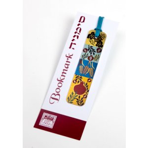 Dorit Judaica Pack of 16 Colorful Aluminum Bookmarks - Seven Species