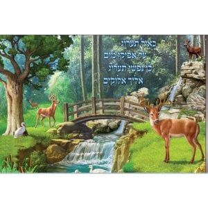Laminated Colorful Wall Poster - Psalms As the Deer Pants for Water