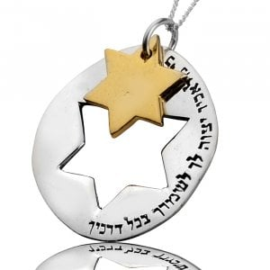 Star of David Necklace for Safeguard by HaAri Jewish Jewelry