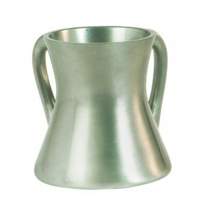 Yair Emanuel Gleaming Aluminum Small Hourglass Wash Cup - Silver
