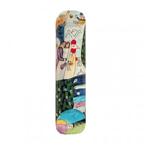 Yair Emanuel Small Hand Painted Mezuzah - Bride and Groom at Wedding Chuppah