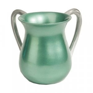 Yair Emanuel Anodized Aluminum Classic Netilat Yadayim Wash Cup - Light Green
