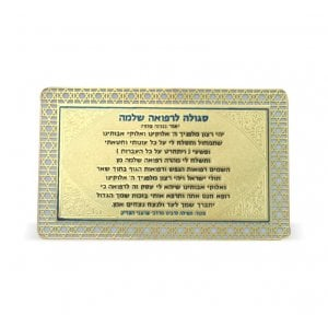 Pocket Size Velvet Holder with Laminated Cards - Amulets For Speedy Recovery