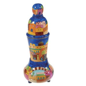 Yair Emanuel Travel Shabbat Candlesticks and Havdalah Set - Jerusalem