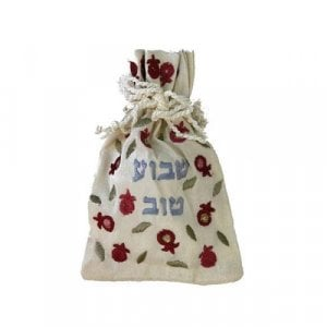 Yair Emanuel Embroidered Silk Havdalah Spice Bag with Cloves - Shavua Tov