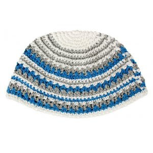 Frik Kippah Blue and Grey stripes