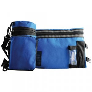 Set, Insulated Tefillin Holder and Weatherproof Tallit Bag - Royal Blue