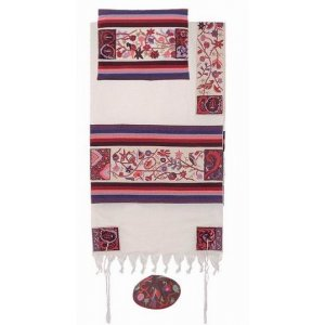 Emanuel Hand Embroidery Tallit - The Matriarchs in Color