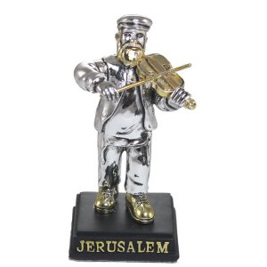 Silver Plated Figurine - Traditional Jewish Fidler