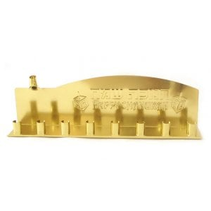 Gold Colored Low Cost Tin Chanukah Menorah
