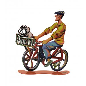 David Gerstein Free Standing Double Sided Bicycle Sculpture - Country Rider