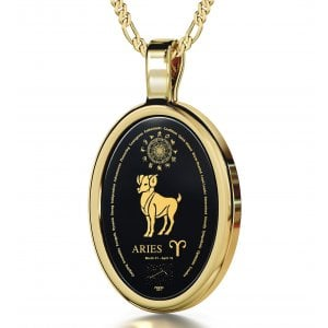 Aries Zodiac Pendant by Nano Jewelry