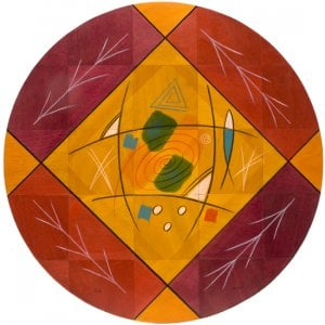 Round Floor Mat Dream Field by Kakadu Art