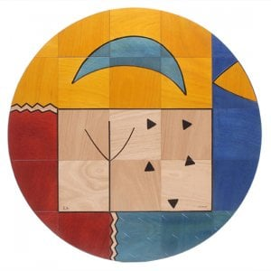 Round Floor Mat Forma by Kakadu Art