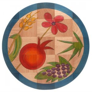 Round Floor Mat Holy Plants by Kakadu Art